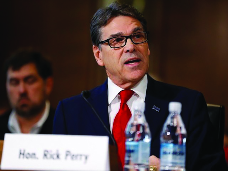 Rick Perry, former Texas governor and President Donald Trump's pick to head the Energy Department sat before the Senate Committee on Energy and Natural Resources last Thursday.