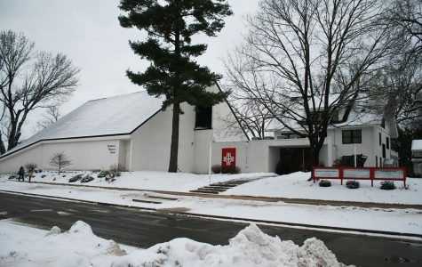 Newman Parish, the Roman Catholic Church at which Liebl and Rysavy completed their community service. The church is located on Garfield Ave. next to Hibbard Hall.