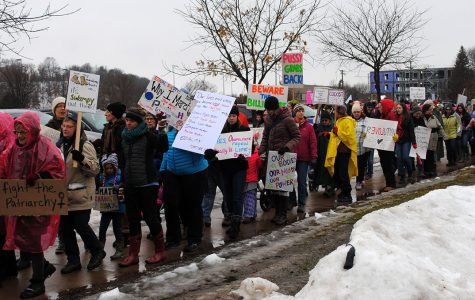 Hundreds came together for the Women's March Saturday in Eau Claire