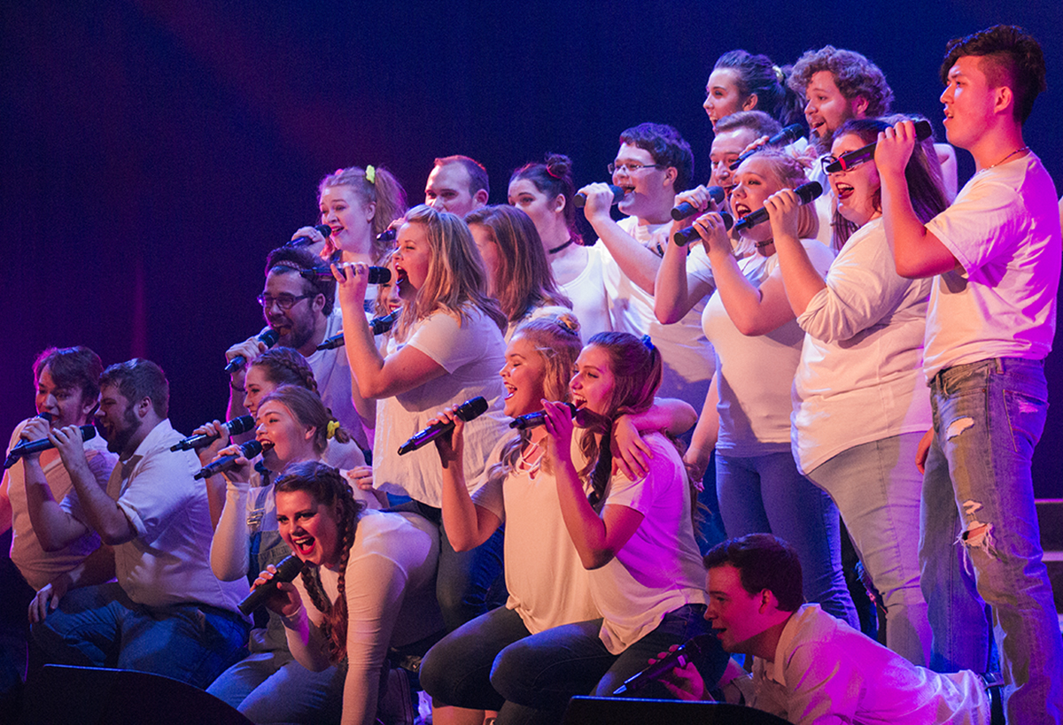 """UW-Eau Claire's Cabaret """"Unboxed"""" performance showcased a variety of student's skills in dancing, singing and directing."""