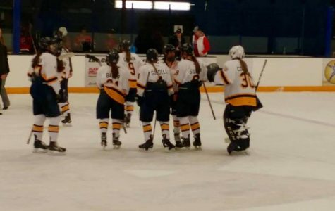 Women's hockey breaks the school record for wins in a single season, but ends the season with a loss.