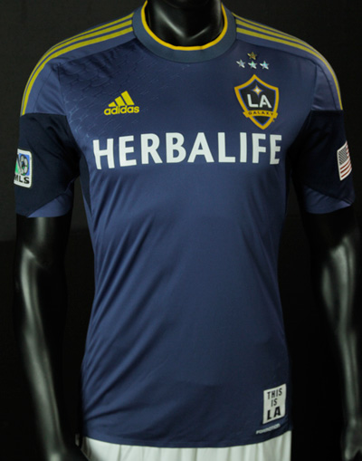The Los Angeles Galaxy is one of the many professional sports franchises that features a company advertisement on the front of their uniforms, that dwarfs the name of the team.