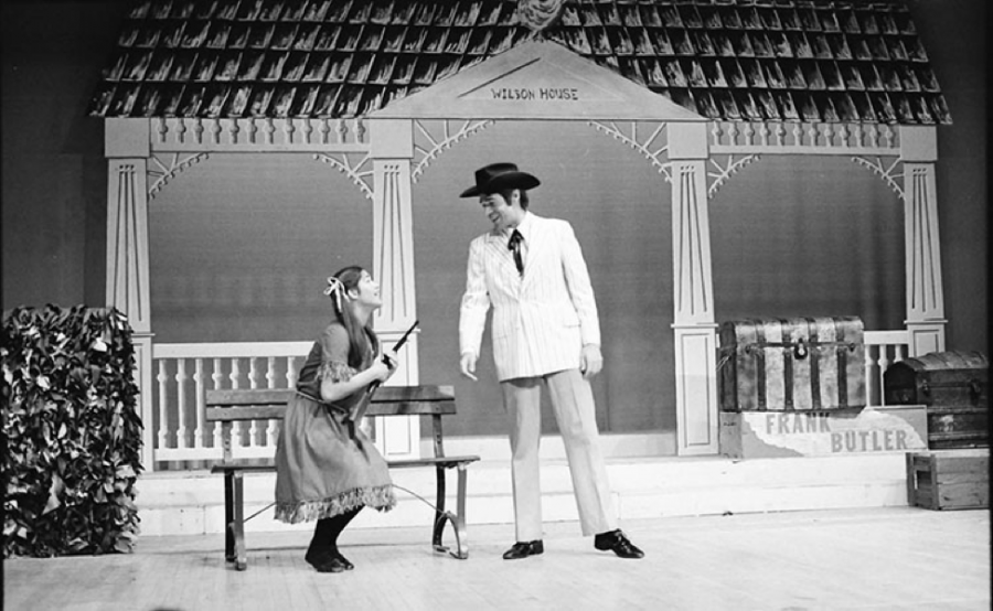 Similarly to today's Theatre Department, UW-Eau Claire students are given the opportunity to perform in front of their peers and the public. Pictured above is the 1977 theatre production, Annie Get Your Gun.