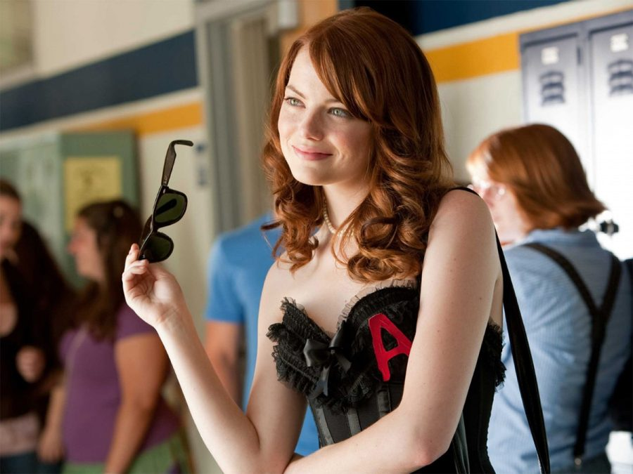 Olive Penderghast (Emma Stone) embraces her promiscuous alter ego following a false rumor concerning her sex life.