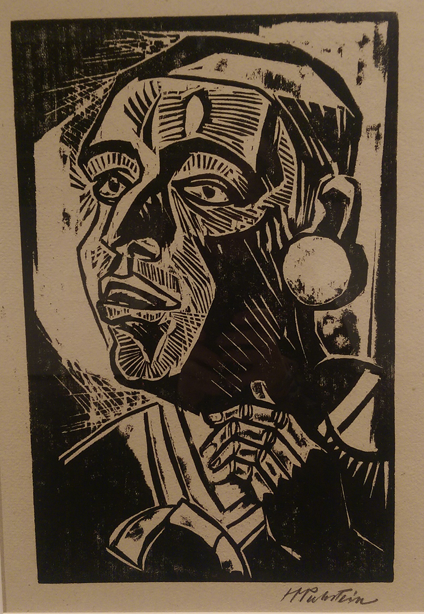 """Max Pechstein's """"Portrait (Head with Large Earring)"""