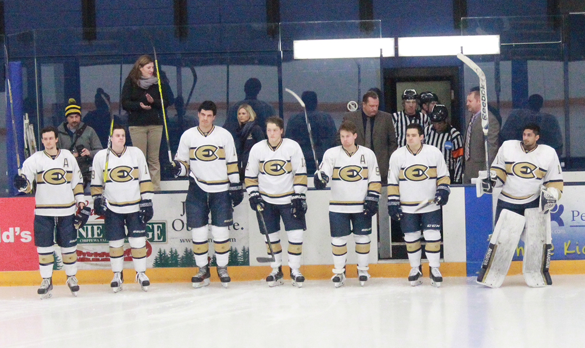 Saturday's game also served as senior night, honoring members of the team who will be graduating in a few months.