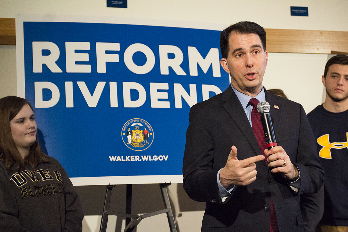 On Feb. 8 Gov. Scott Walker outlined a plane where more than $100 million in new funding would be committed to the UW System.