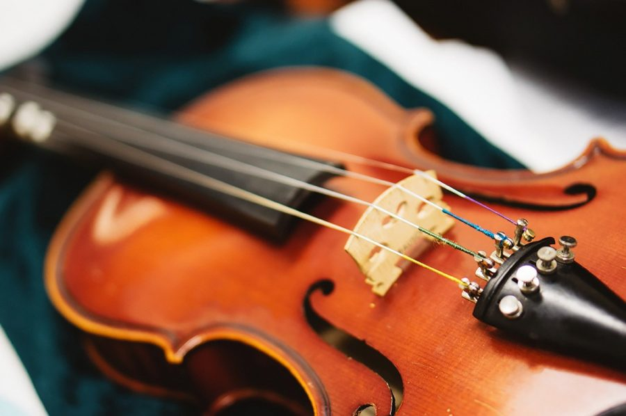 While violas and violins are similar, violas are larger and have a deeper, more mellow sound than violins.