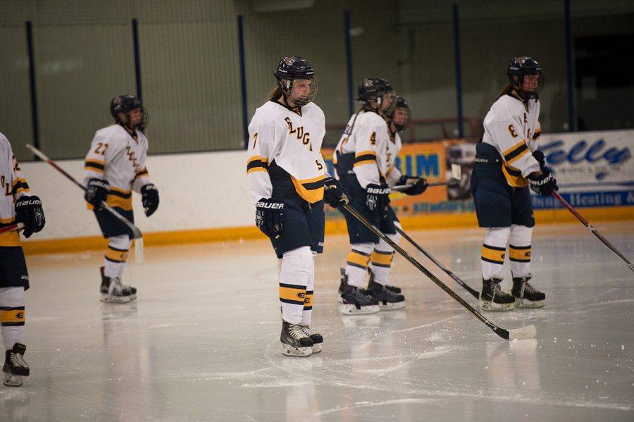 The Blugolds will take this ice twice this weekend in hopes of progressing past the semifinals.