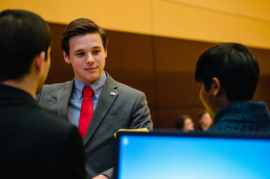 Scott Small not only serves as Blu, but is also a member of student senate.