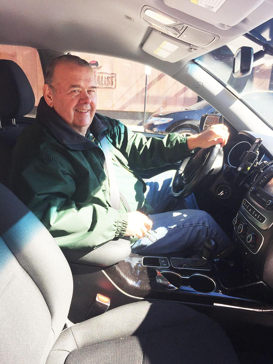 Robert Vogler, a 71-year-old retired Eau Claire resident joined Uber as a driver to fill his free time and give him something to do.