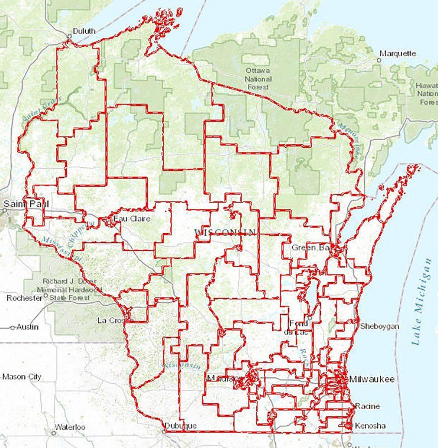 Wisconsin Assembly District Map Federal judges declare Wisconsin Assembly districts