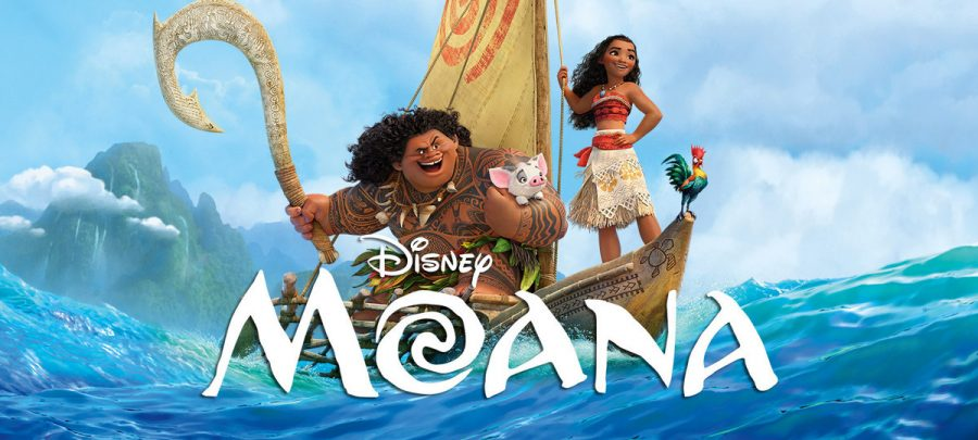 Moana+and+Maui+battle+for+an+island+nation+in+an+action-packed+animated+feature+showing+in+Woodland+Theater+this+weekend.+