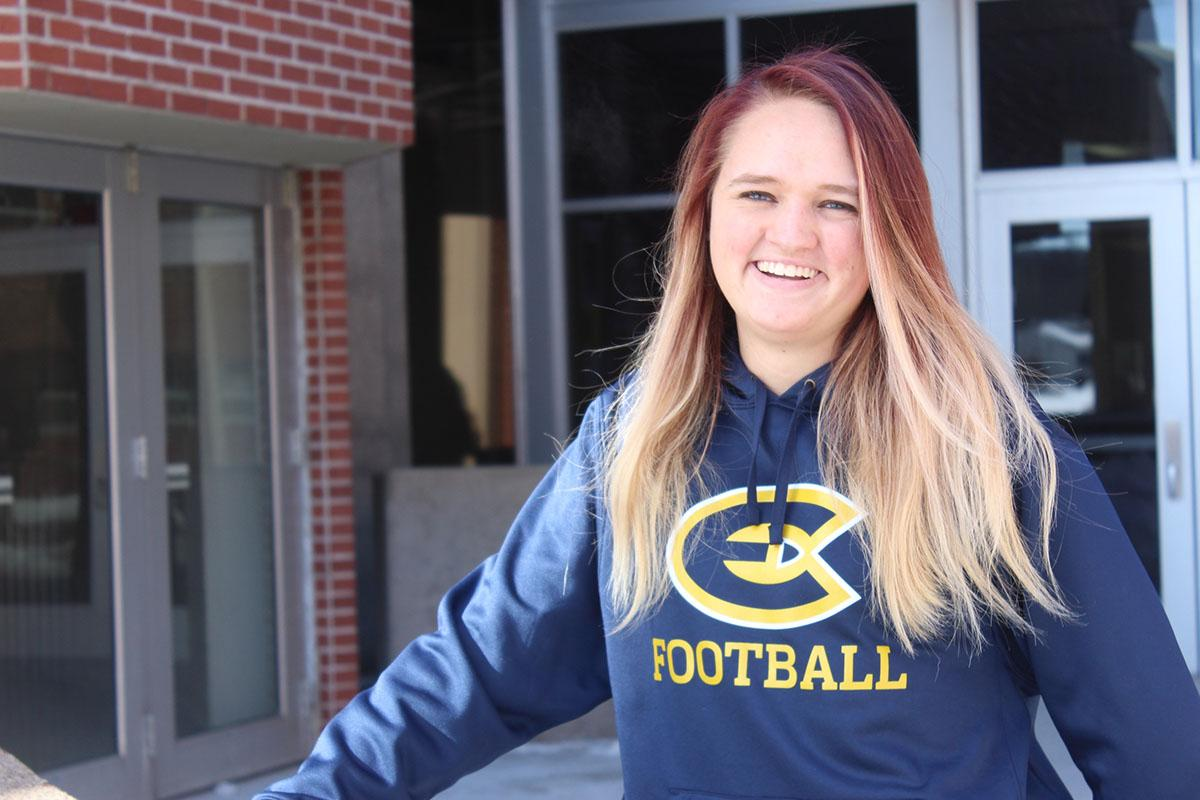 Sophomore Sydney Yantes has turned her passion into a life goal, with hopes of being a recruiter for Division One football after college graduation.