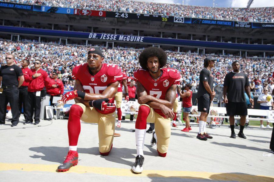 Colin+Kaepernick+sparked+national+controversy+by+kneeling+during+the+national+anthem+at+games+last+fall.+Now%2C+his+activism+may+be+affecting+teams+signing+him.%0A
