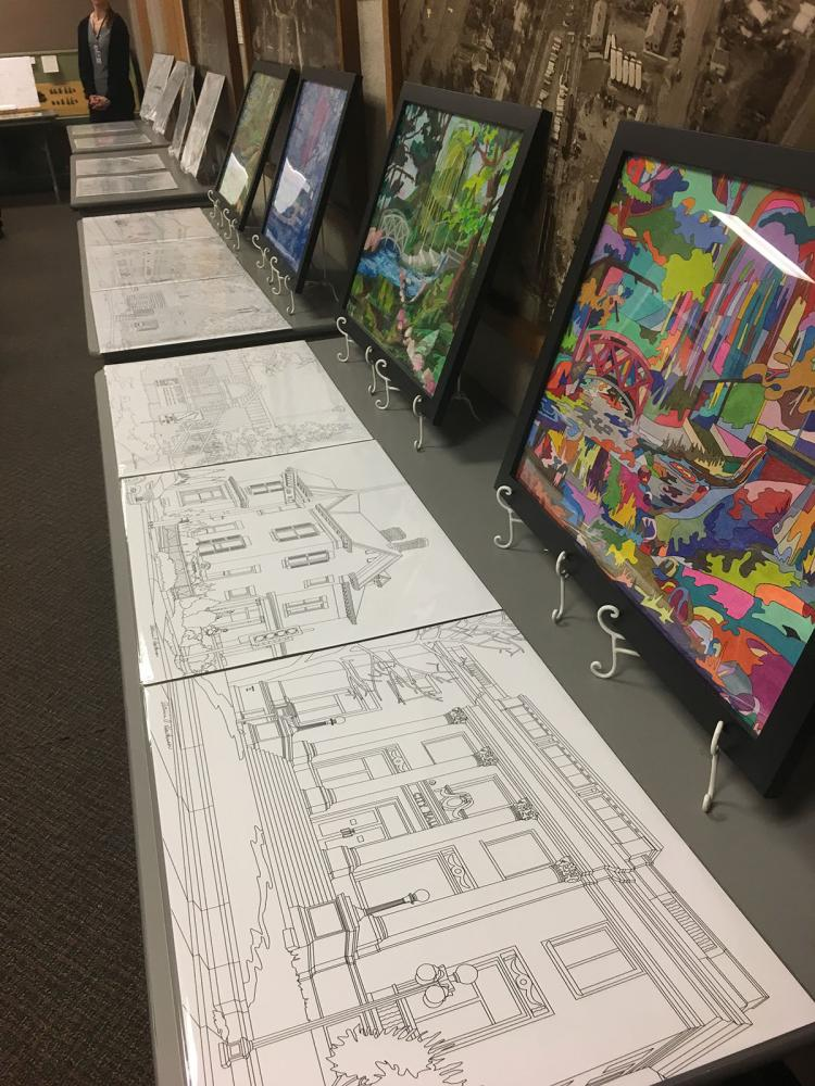 Color Eau Claire creator Patricia Hawkenson presented her work featuring Eau Claire scenes at the Chippewa Valley Museum Tuesday, April 25.
