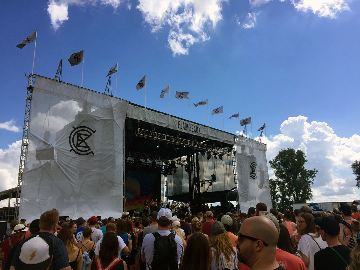 """The """"Flambeaux"""" was one of the six stages at last year's Eaux Claires Music & Arts Festival."""