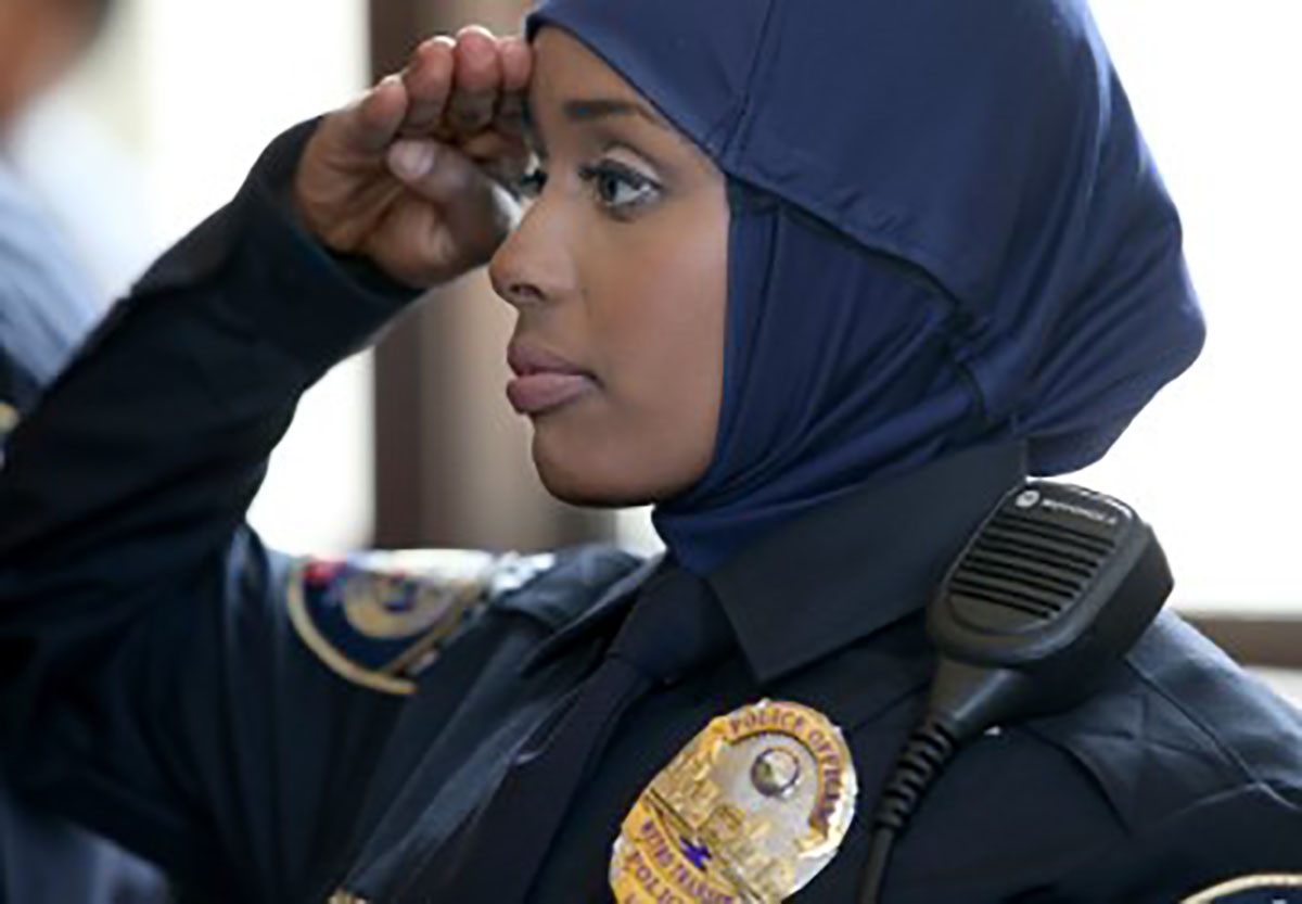 Kadra Mohamed is Minnesota's first hijab wearing policewoman and the first Somali female officer. She is only 21 years old and already making history.
