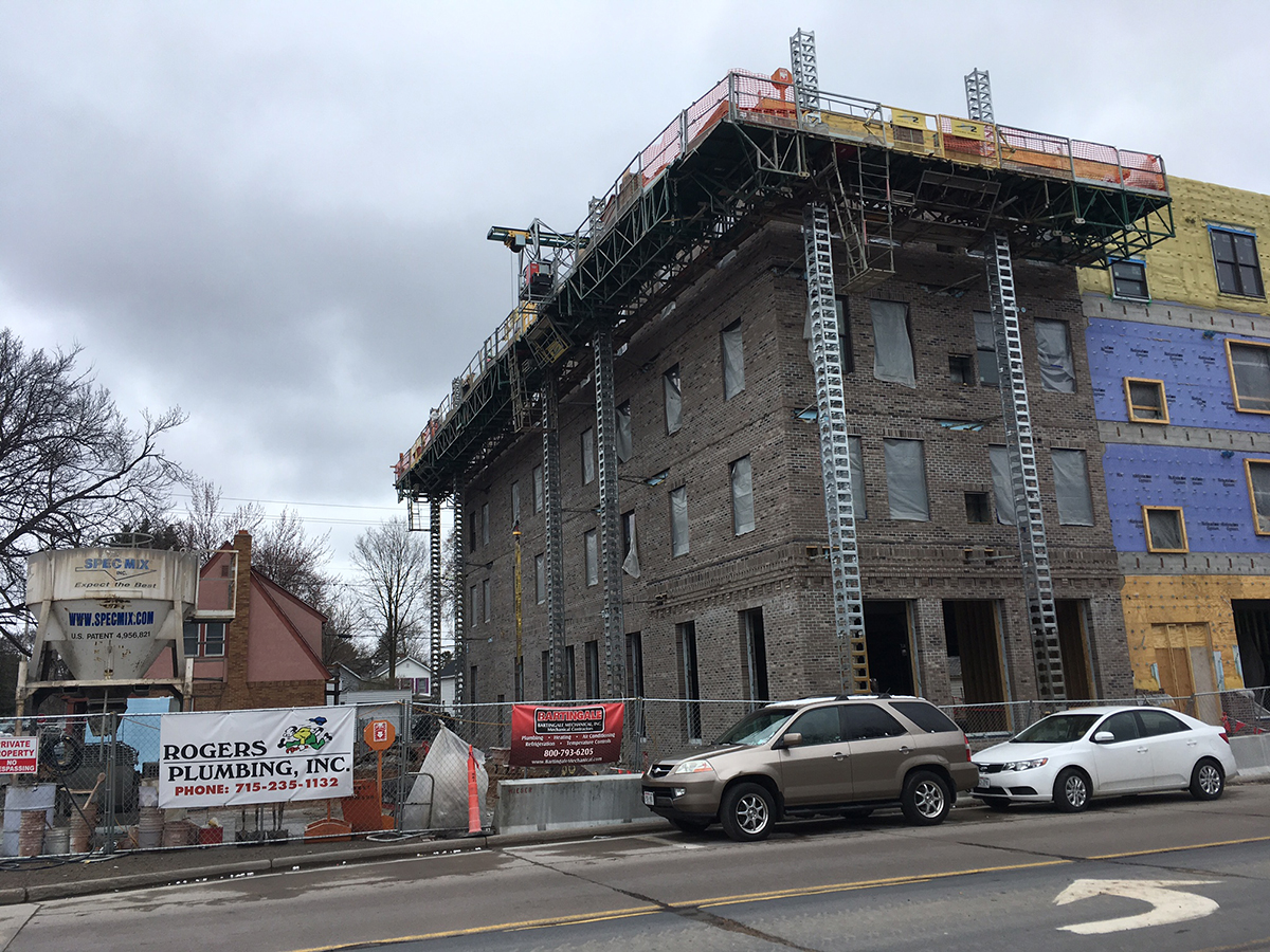 The new apartment complex on Water Street will provide housing for around 201 students.
