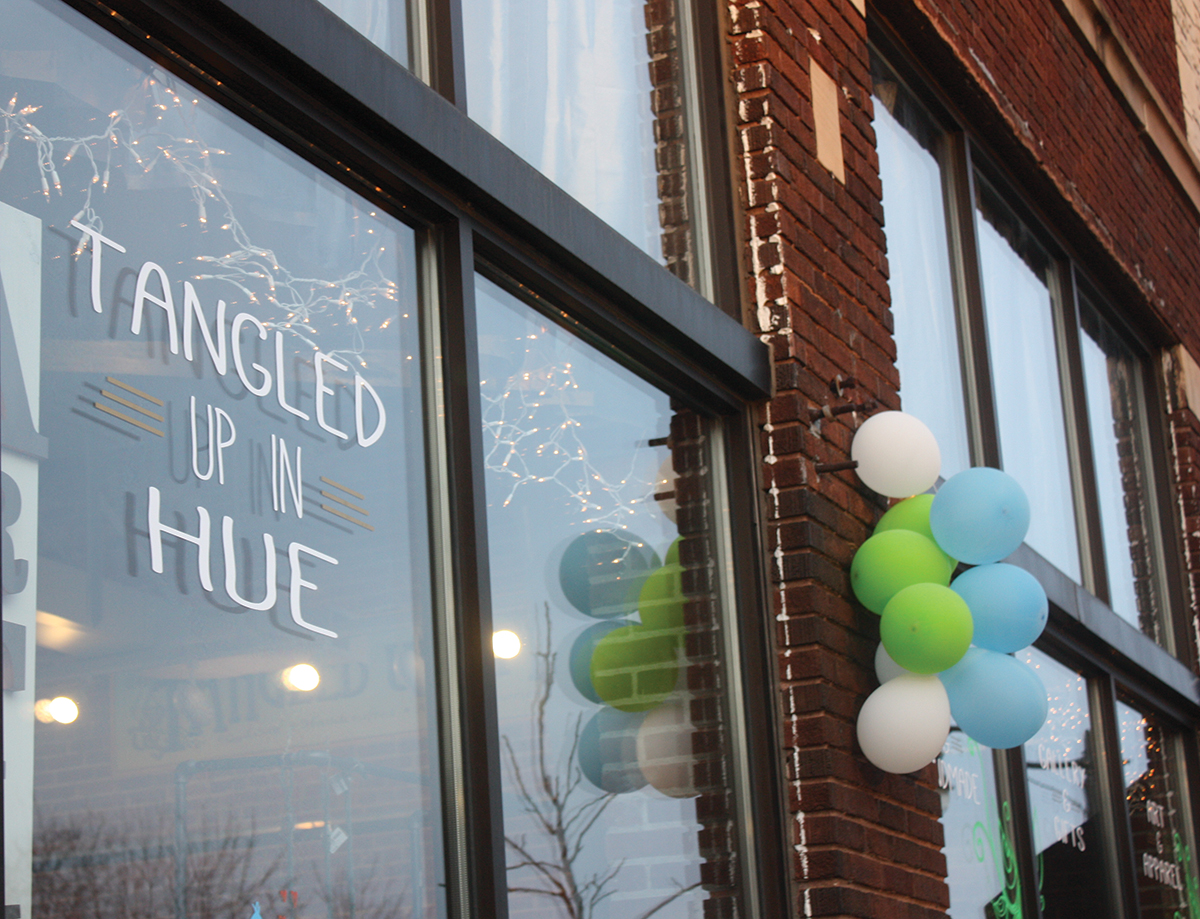 Tangled Up In Hue celebrated their re-opening this past Friday with free caricatures, live music, an art station and free snacks at their new location 505 S. Barstow St. Suite B in downtown Eau Claire.