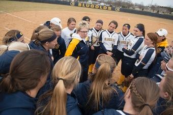 The women's softball team has achieved a winning record so far this season.