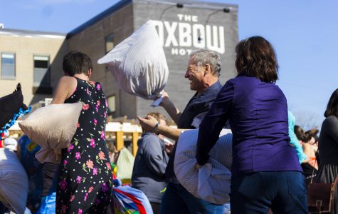 Eau Claire celebrates April Fools' Day with citywide pillow fight