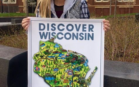 Blugold designs poster for 'Discover Wisconsin's' 30th anniversary