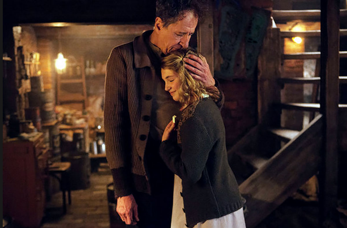 The performances by Sophie Nelisse and Geoffrey Rush as foster father and daughter provided warmth to a rocky film.