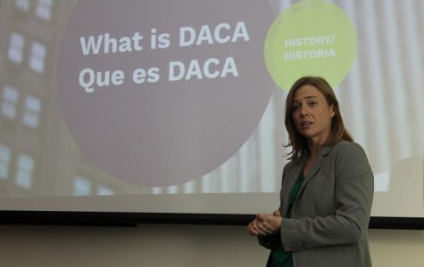 Kara Lynum, a legal attorney from the Twin Cities, answered questions about DACA Wednesday evening.