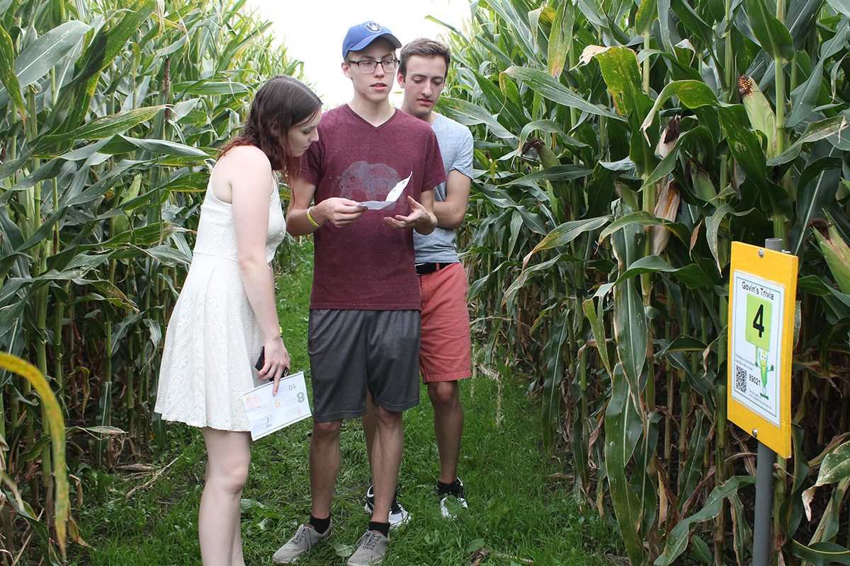 Families and students went through the corn maze and participated in activities at Govin's Farm during its season opening last weekend.