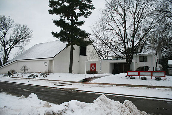 UW-Eau Claire students Alexandra Liebl and Madelyn Rysavy completed service hours at the Catholic church, the Newman Parish, located next to Hibbard Hall on Garfield Ave.