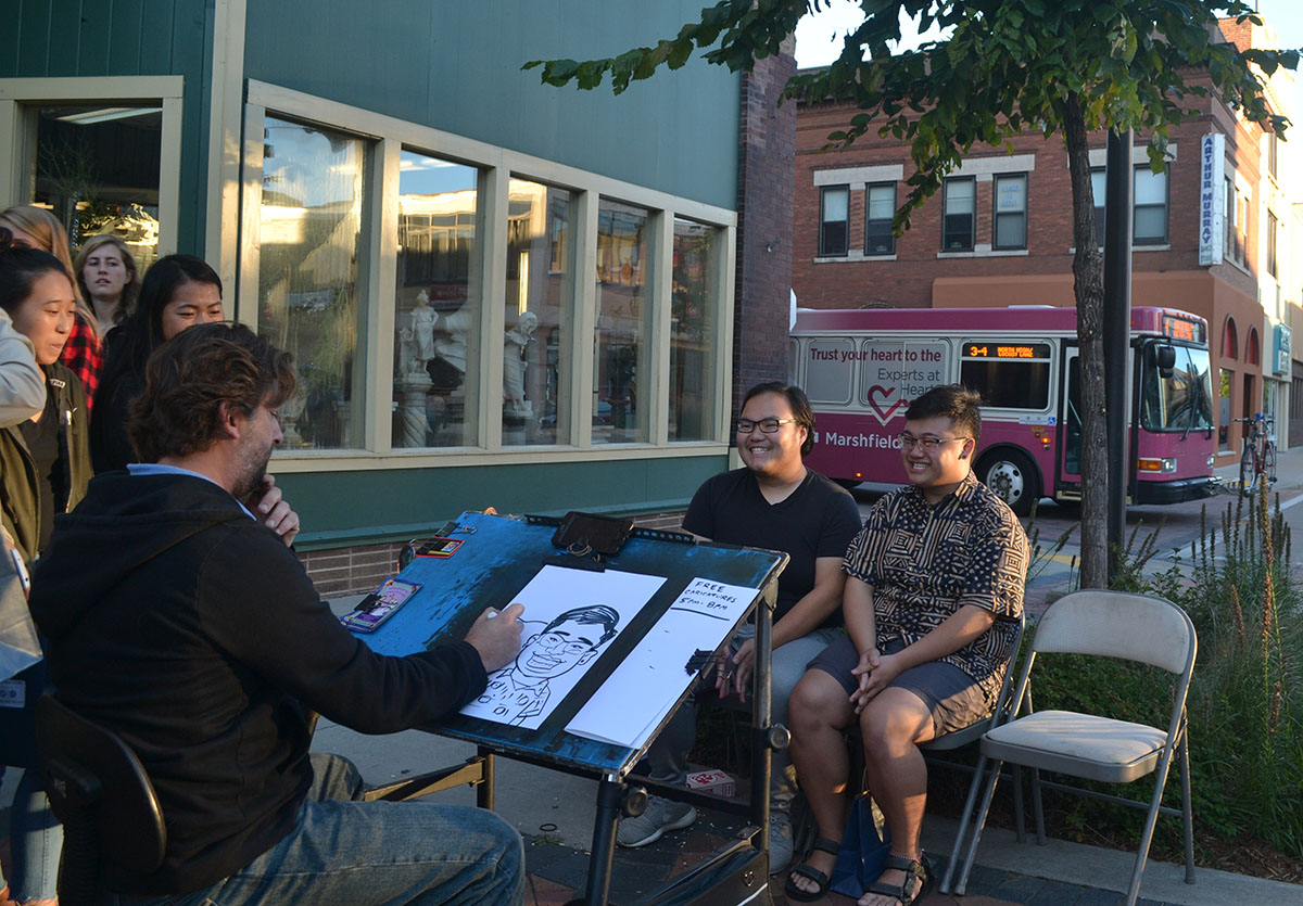 UW-Eau Claire students were invited downtown last Friday to meet local businesses.