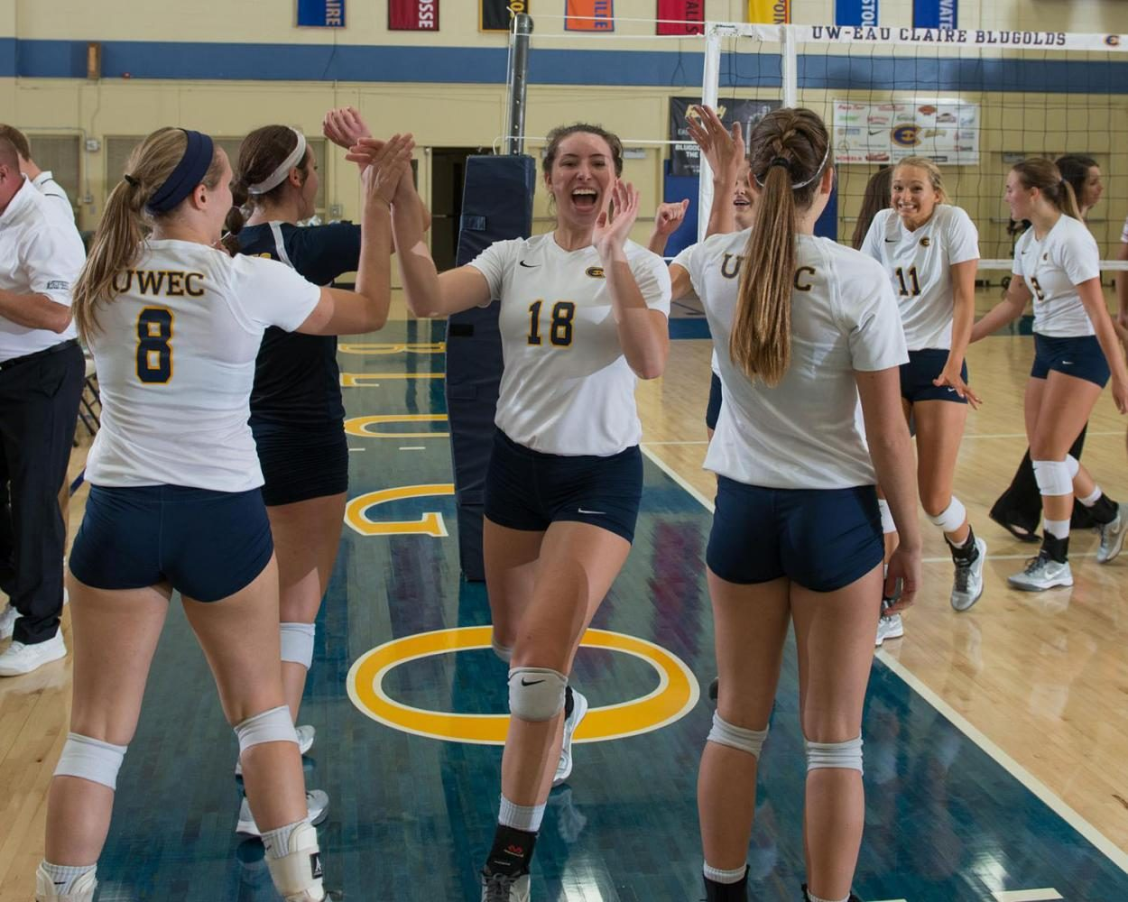 Women's volleyball played in the Augsburg Invitational in Minneapolis where they won two of three matches over the weekend and gained another victory on Monday night in Madison against Edgewood College.