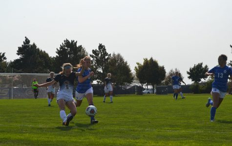The UW-Eau Claire women's soccer team gave it their best shot against Dubuque University, tieing the Spartans 1-1.