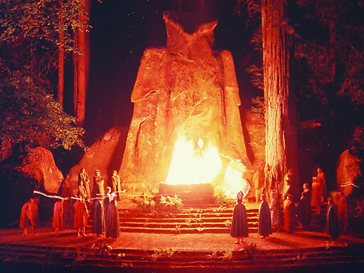 Every July, America's most powerful men gather in the woods for weeks of rituals and secrecy at Bohemian Grove.