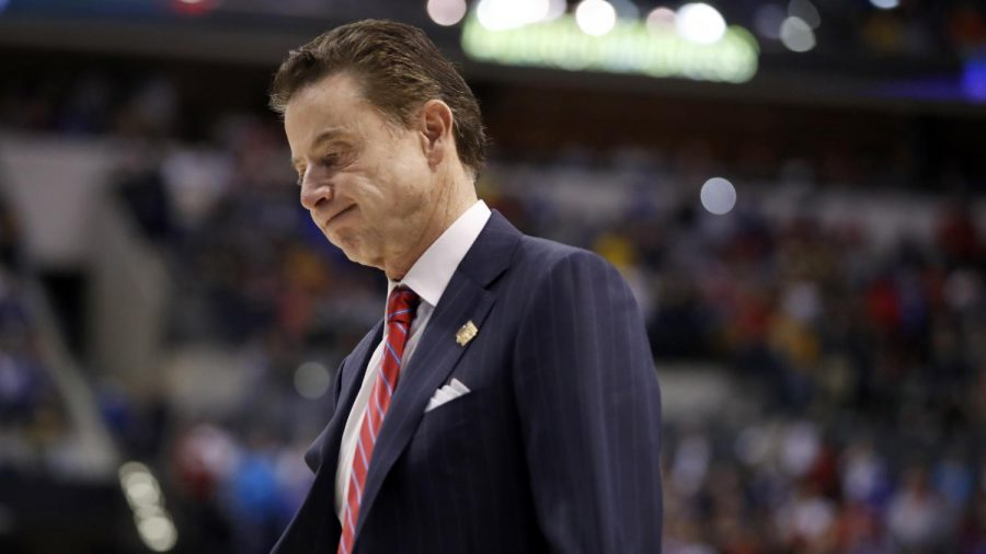 Lousiville+men%27s+basketball+Head+Coach%2C+Rick+Pitino+was+among+those+found+guilty+in+an+FBI+bribery+investigation.+Pitino+has+since+been+suspended.+
