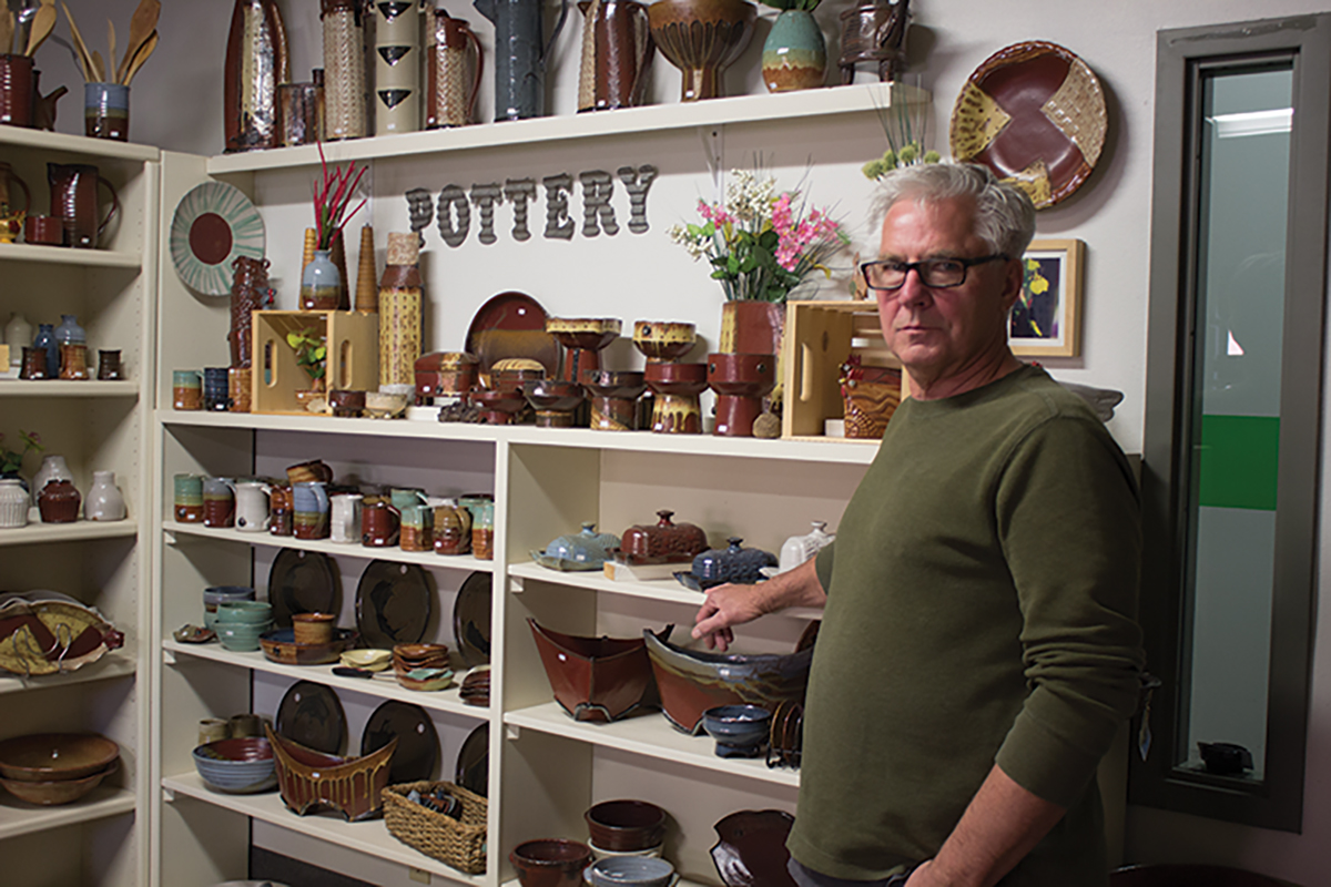 Dick Millheiser is a potter in Eau Claire. As a retired art teacher, he now shows his art in galleries, at his studio and in art festivals.
