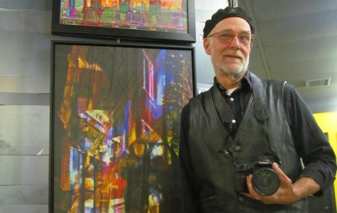 Tom Gardner has a studio and shows his work in the Artisan Forge Gallery. Gardner practices digital photography.