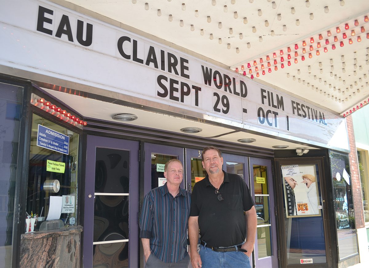 Chris+Herriges+and+Dan+Coffeen%2C+the+co-directors+of+the+Eau+Claire+World+Film+Festival%2C+screened+more+than+45+films+this+past+weekend.+
