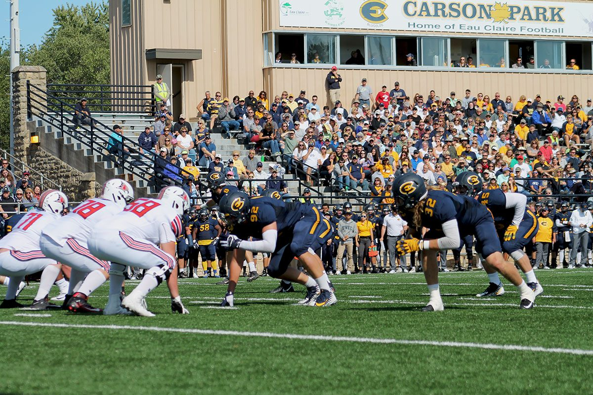 The UW-Eau Claire football team suffered a loss in their homecoming game at Carson Park this weekend, falling to the UW-River Falls Falcons 30-7.