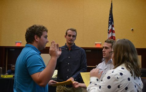 Three new on-campus senators were sworn in on Monday evening. Senate passed a resolution in support of centralizing Student Health Services and Counseling Services and introduced two special allocation bills.