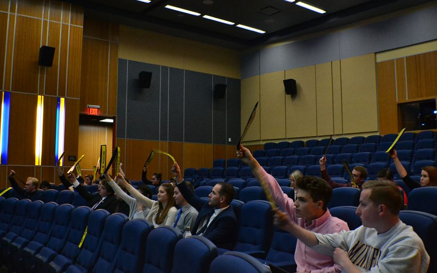 The 61st Session of Student Senate passed three bills on Monday evening. One will allocate $71,540 to the Confluence Arts Center to pay for the LED lighting in the building.