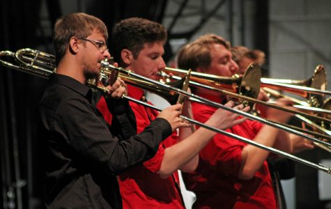 High school and college students come together at trombone festival