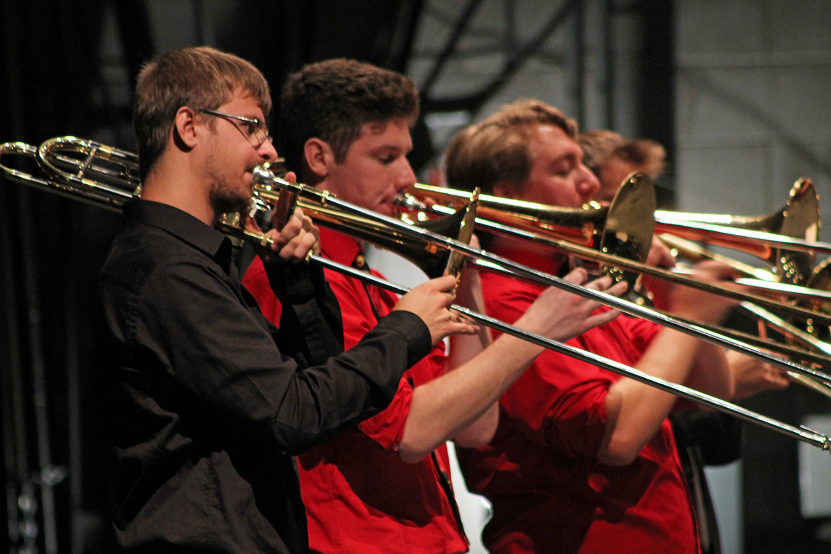 Wisconsin and Minnesota schools came to Eau Claire to play in the annual trombone festival.