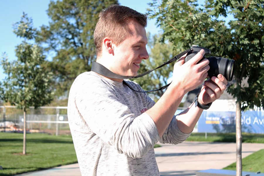 Matt Schrupp, an Eau Claire senior, shoots images of campus everyday where some of his work has been featured in the USA Today College Guide 2018.