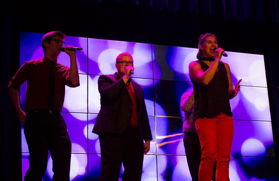 UW-Eau Claire and local high school a cappella groups performed last Friday night in Schofield Auditorium for the Extravaganza.