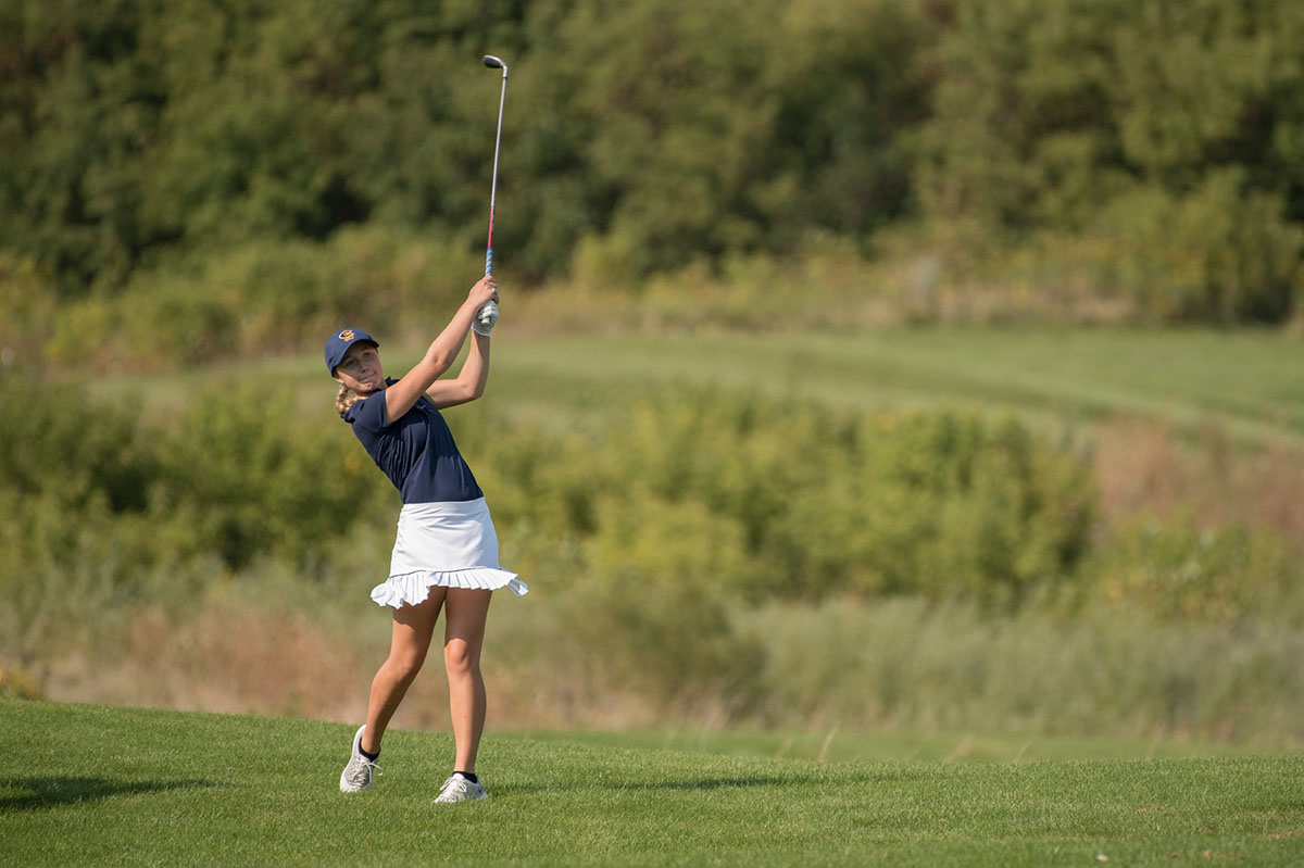 The UW-Eau Claire women's golf team competes in the Mad Dawg Invite at the Stevens Point Country Club over the weekend where they finished fifth.