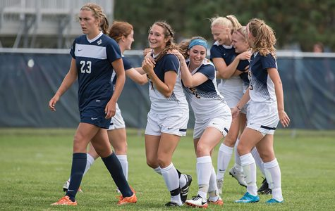 The Blugolds found the back of the net early and often to open conference play with a 5-0 win over UW-Platteville.