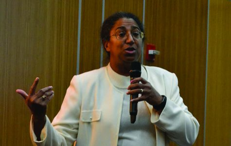 Professor Selika Ducksworth-Lawton's presentation was part of the 'WWI and America' series to commemorate 100 years since the U.S. entered the war.