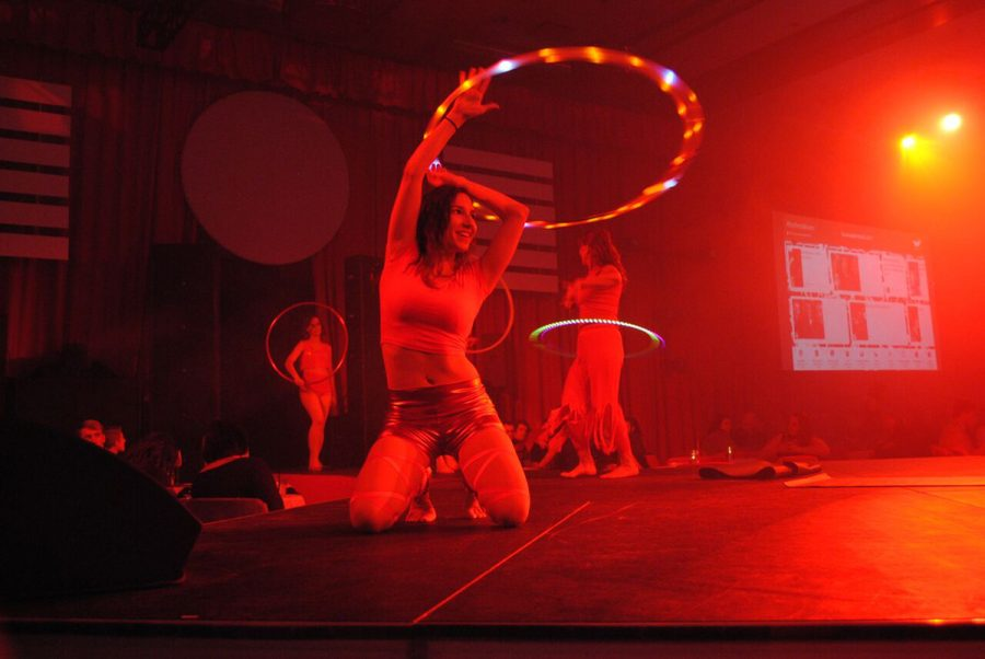 Michelle+Bolwerk+works+as+a+travel+agent+for+Holiday+Vacations+and+teaches+pole+fitness+classes+at+Dragonfly+Dance+and+Wellness+in+Eau+Claire.+In+the+meantime%2C+she+creates+routines+with+hula+hoops+and+said+the+activity+has+helped+her+overcome+mental+barriers+and+be+confident+in+herself.